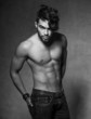sexy fashion man model top naked posing dramatic