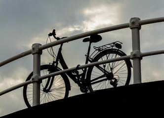 Bicicleta a contraluz