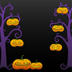 Black Halloween tree frame