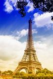 Fototapeta Beautiful view of the Eiffel Tower