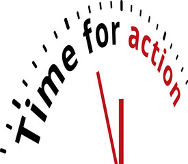 Time for action motivation business clock