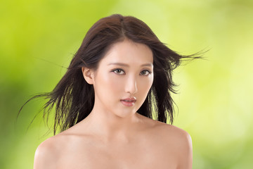 Asian beauty face
