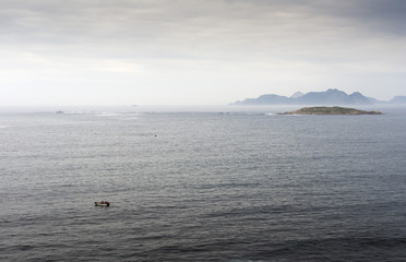 View of the Cies Islands from the coast