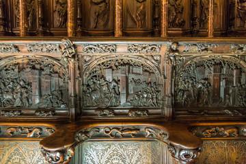 スペイン トレド大聖堂 聖歌隊席