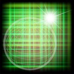 Vector world grid globe background