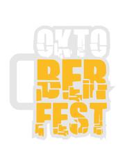 Oktoberfest Logo Blau Weiß Bier