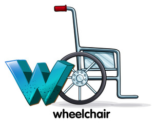 A letter W for wheelchair