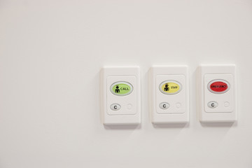 set of three Hospital call buttons