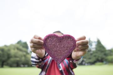 Girl who has a heart