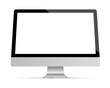 Display monitor computer vector mockup.
