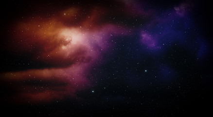 Space with nebula and stars.