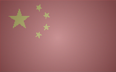 Pixel-styled china National Flag