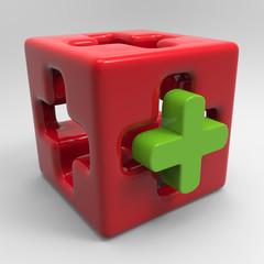 Medizinwürfel Rot-Grün
