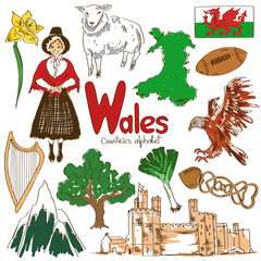 Collection of Wales icons