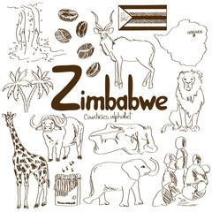 Collection of Zimbabwe icons