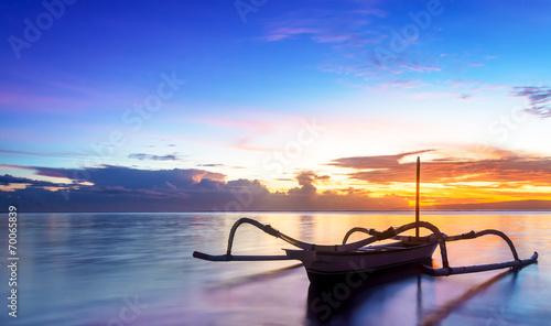 Leinwanddruck Bild Jukung Traditional Bali Fishing Boat