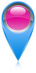 icône bouton épingle pointe marqueur carte