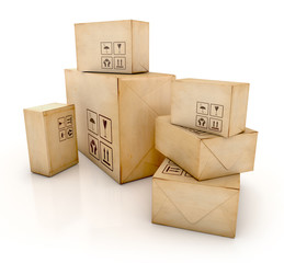 Cargo, delivery and transportation industry concept
