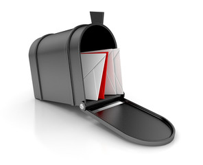mailbox with letters. 3D illustration