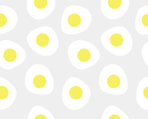 Seamless pattern of sunny-side up