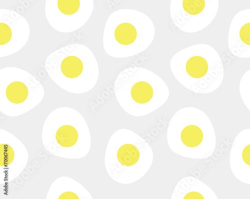 Seamless pattern of sunny-side up © ayusloth