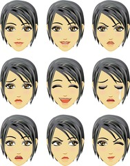Facial expression of woman (Asian Descent)