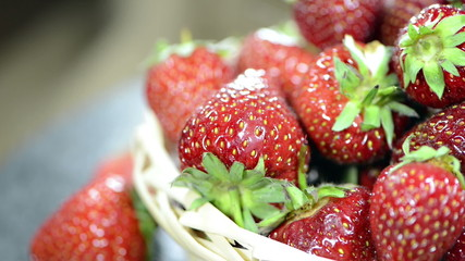 Portion of Strawberries (loopable)