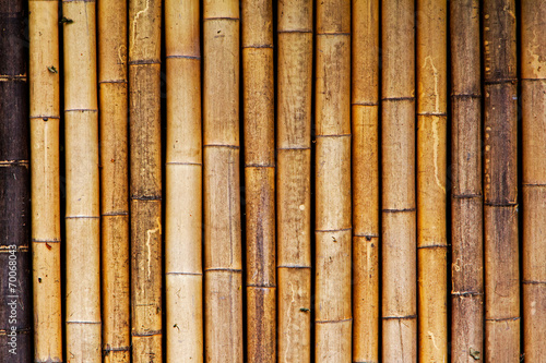 Background of old and dry bamboo fence - 70068043