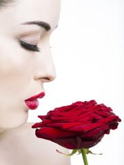 Bocca rossa - rosa rossa