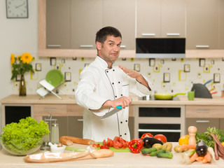 chef preparing food, fight gesture