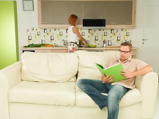 domestic scene