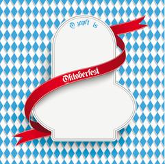 Bavarian Oktoberfest Flyer Emblem