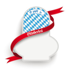 Bavarian Oktoberfest Flyer Emblem White Background