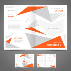 brochure design template abstract figure