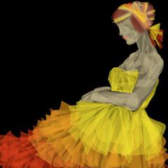 abito da sera giallo