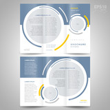 brochure design template trifold vector geometric abstract circl poster