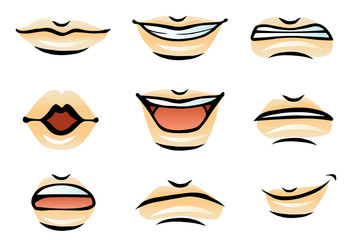 Vector Human Lips (male)
