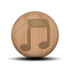 Icone en bois : musique