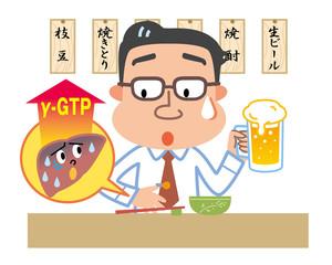 肝臓 γ−GTP 男性 飲酒