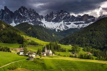 Santa Maddalena  Dolomites Group, Val di Funes, Italy, Europe.
