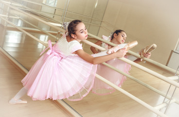 small ballerina at dancing school