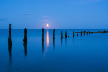Moonrise on Pilmore Strand
