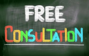 Free Consultation Concept