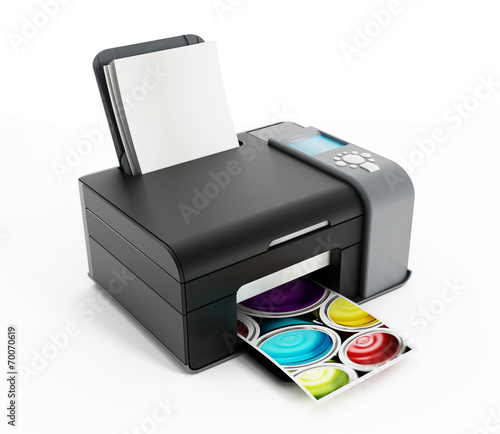 Leinwandbild Motiv Printer