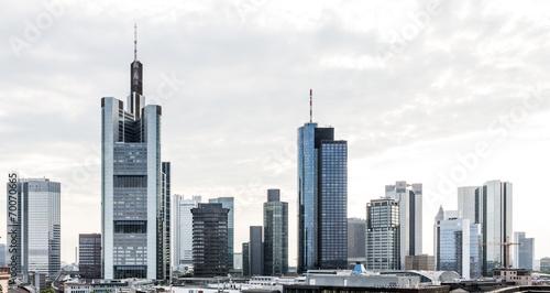 Leinwanddruck Bild Frankfurt Skyline