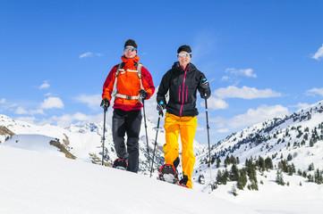 Wanderung im winterlichen Gebirge