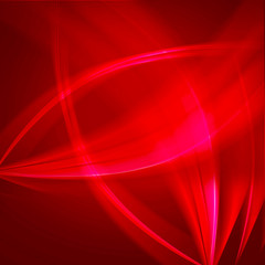 Red wave light abstract background