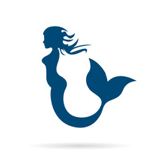 Vector sign mermaid