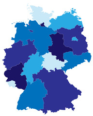 Bundesländer in blau