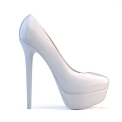 White high heel shoes